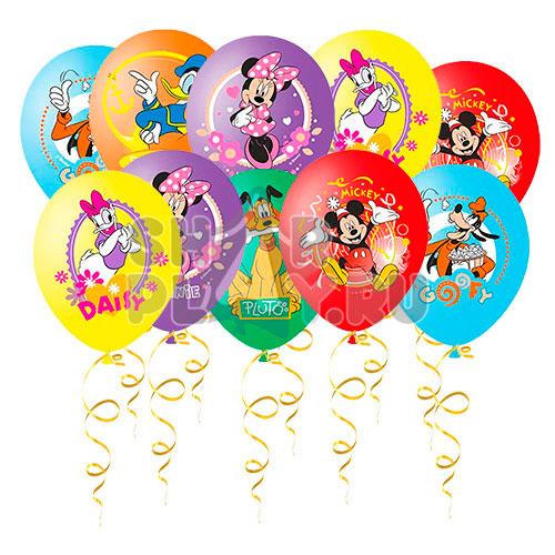 Шары под потолок Микки Маус и друзья (цветная печать) (30 см)