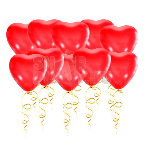 Шары под потолок Сердца, Красный (38 см)