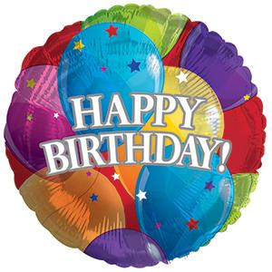 Фольгированный Круг, С Днем рождения (шары) (46 см)