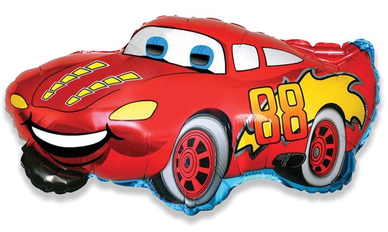 Фольгированная фигура гоночная тачка, Красная молния (81 см)