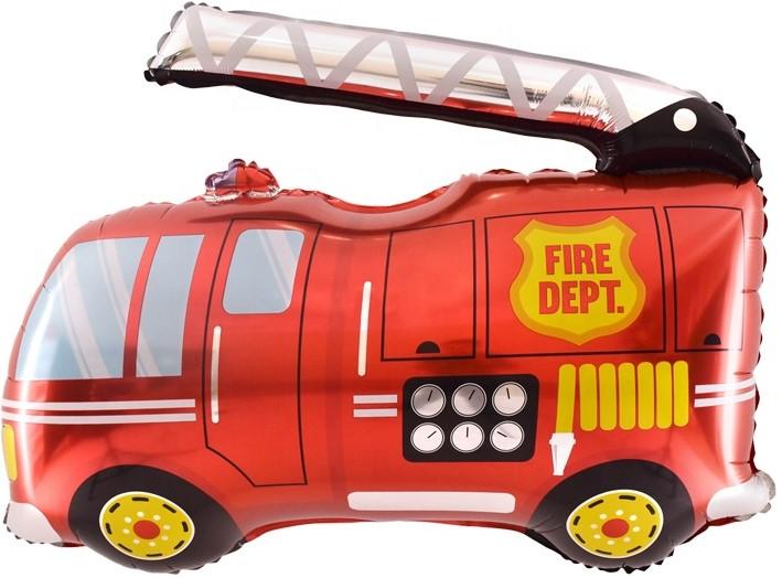 """Фольгированная фигура """"Пожарная машина"""", Красный (79 см)"""
