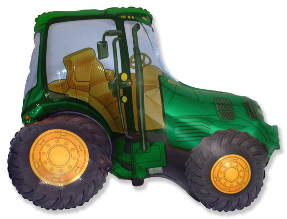 """Фольгированная фигура """"Трактор"""", Зелёный (94 см)"""