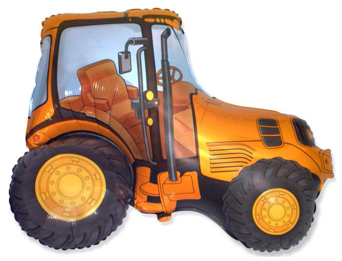 """Фольгированная фигура """"Трактор"""", Оранжевый (94 см)"""