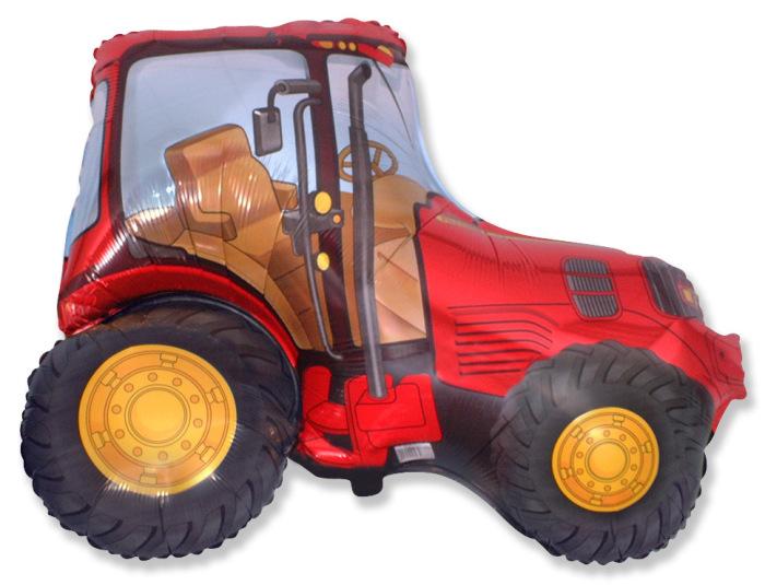 """Фольгированная фигура """"Трактор"""", Красный (94 см)"""