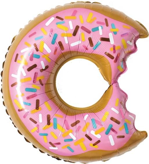 """Фольгированная фигура """"Круг, Надкусанный пончик"""", Розовый (66 см)"""