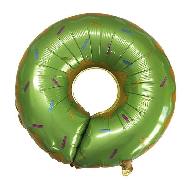 """Фольгированная фигура """"Круг, Пончик"""", Зеленый (69 см)"""