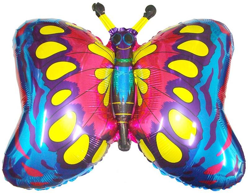 """Фольгированная фигура """"Бабочка"""", Синяя (89 см)"""