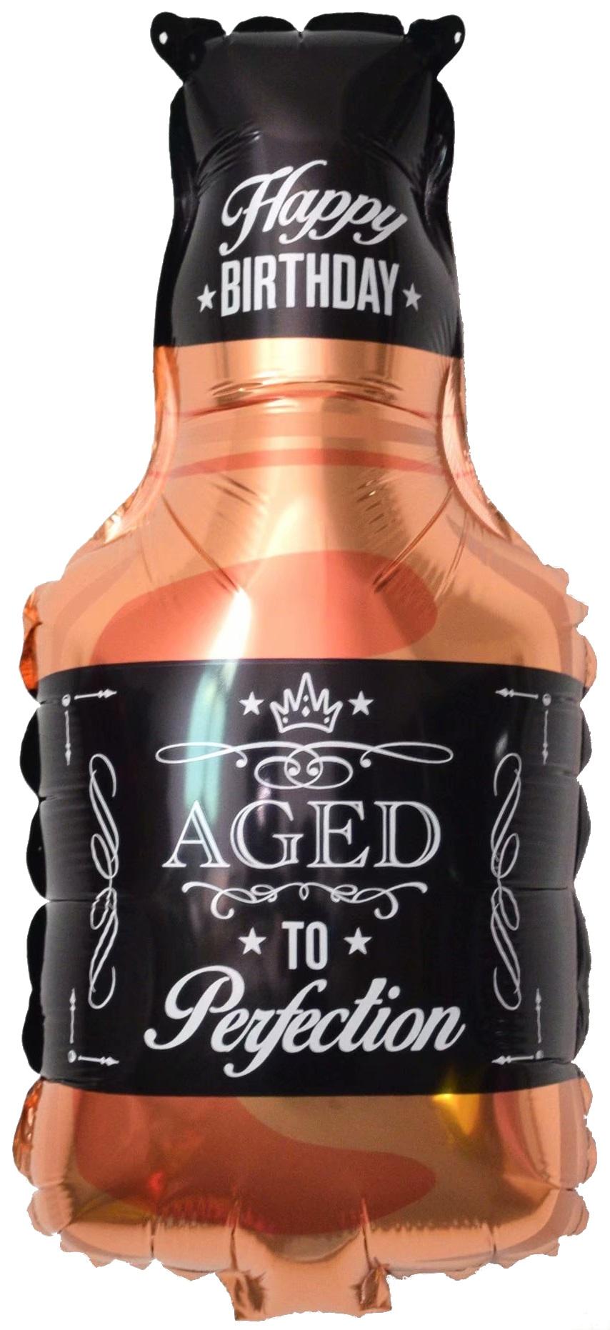 """Фольгированная фигура """"Бутылка Виски"""", Черный (86 см)"""