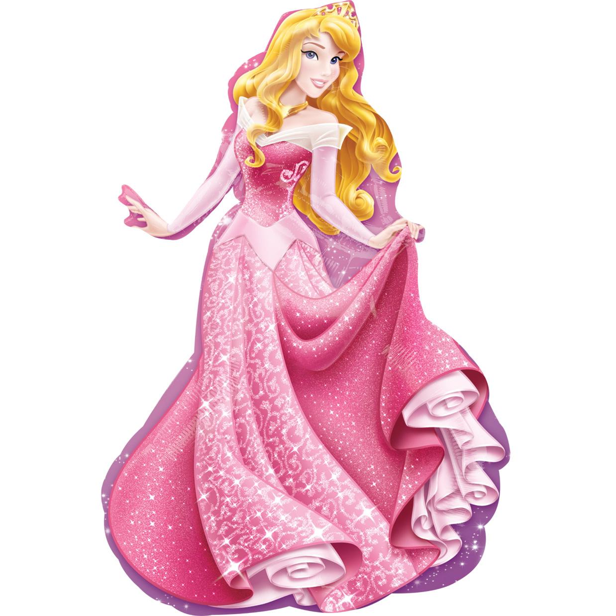 """Фольгированная фигура """"Принцесса Аврора"""", Розовый (86 см)"""