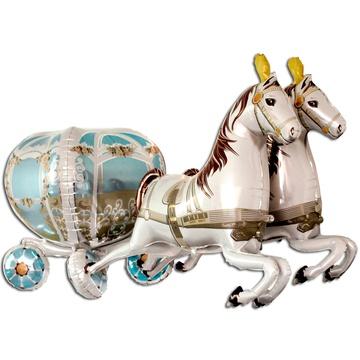 Ходячая фигура, Карета с лошадьми (100 см)
