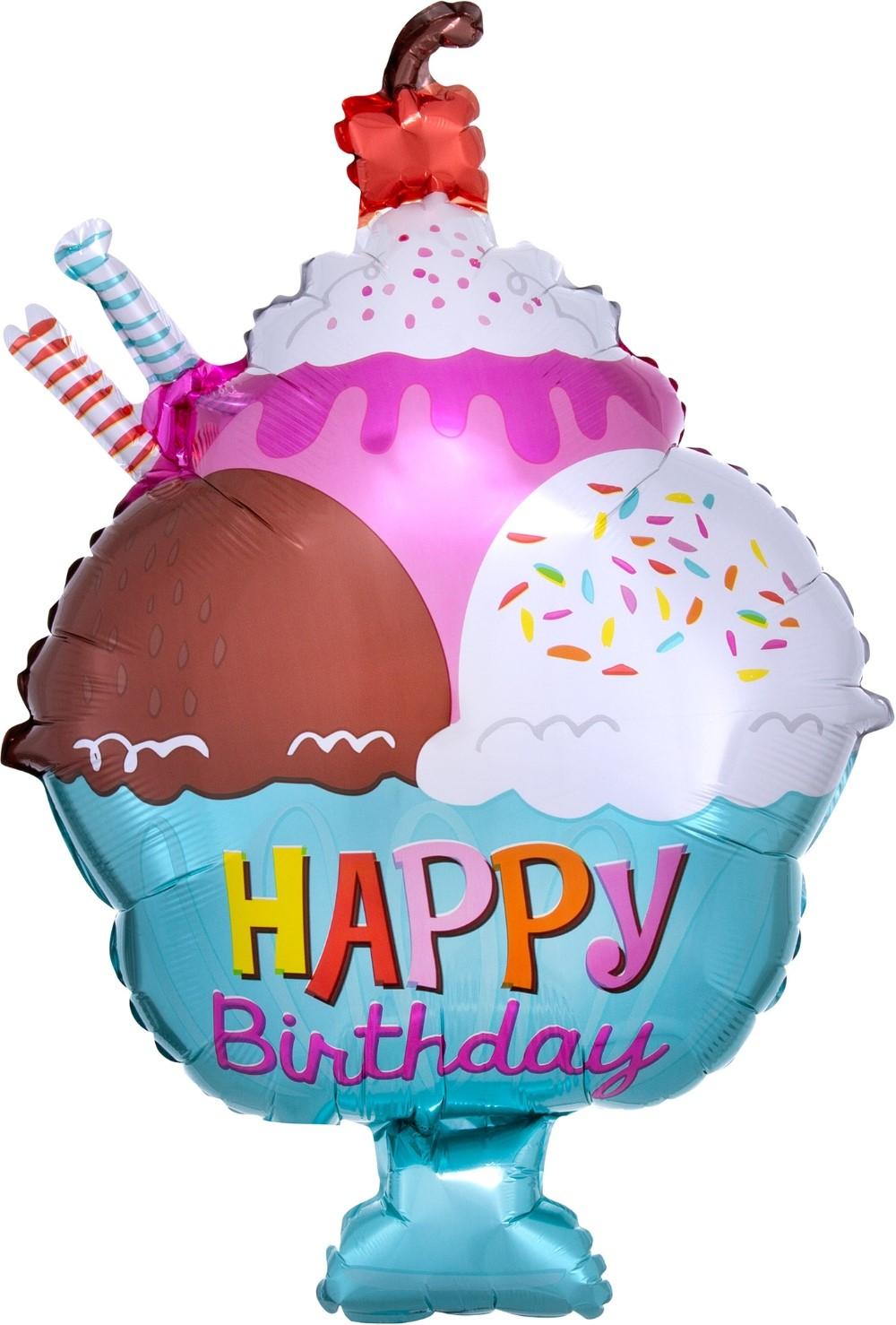 """Фольгированная фигура """"Десерт Happy Birthday"""" (71 см)"""