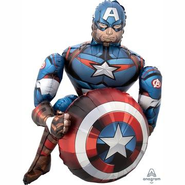 Ходячая фигура Мстители Капитан Америка (100 х 70 см)