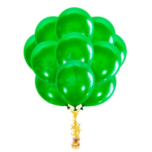 """Облако """"Зеленые шары металлик"""""""