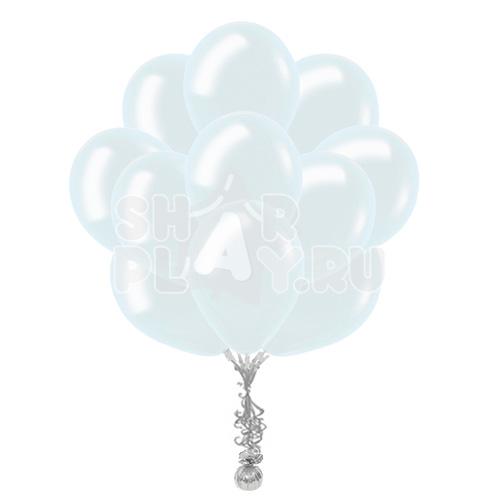 """Облако """"Белые шары металлик"""""""