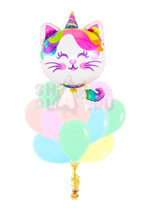 """Облако """"Котёнок - радужный единорог"""""""