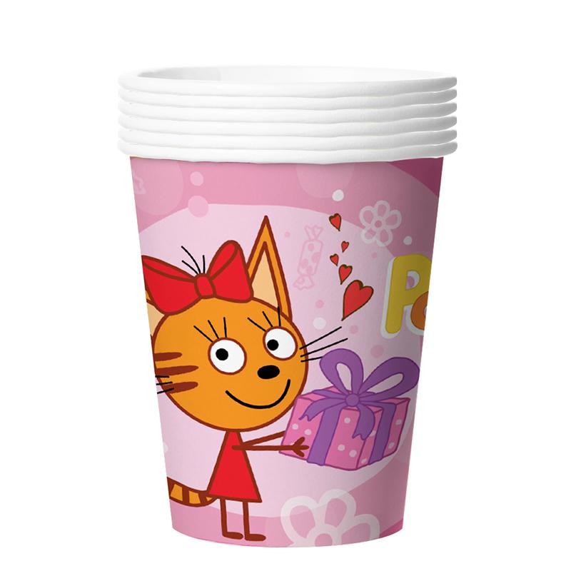 Стаканчики Три кота Розовый