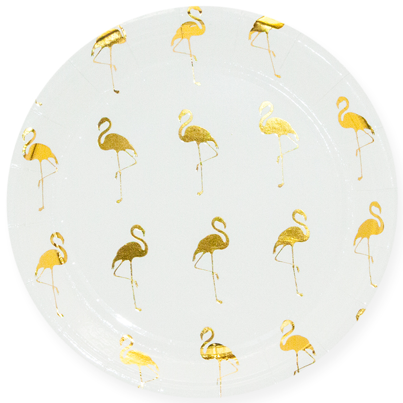 Тарелки Золотой фламинго (23 см)