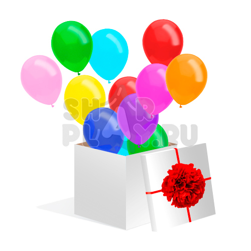 """Коробка с шарами, """"Сюрприз""""  (700х700х700)"""