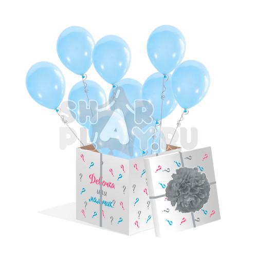 Шары в коробке, Голубой (700х700х700)