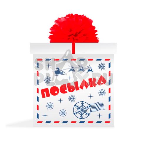 "Коробка сюрприз, ""Посылка от Деда Мороза""  (700х700х700)"