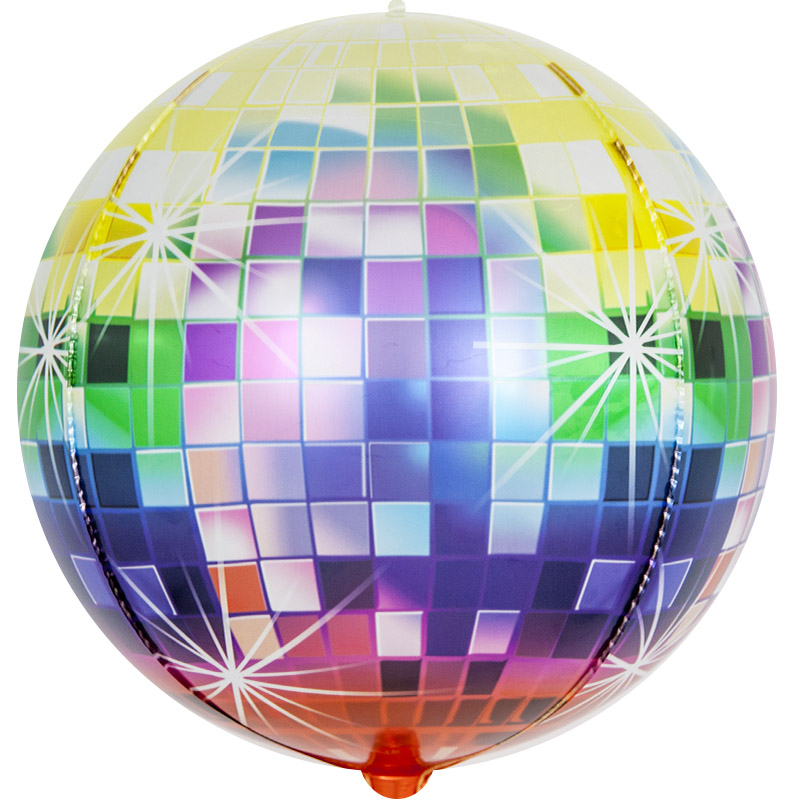 Фольгированная сфера 3D, Сверкающее Диско (61 см)