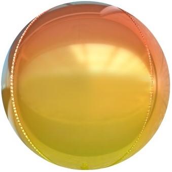 Фольгированная сфера 3D, Оранжевый, Градиент (61 см)