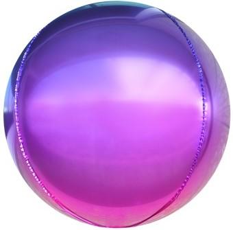 Фольгированная сфера 3D, Фиолетовый, Градиент (61 см)