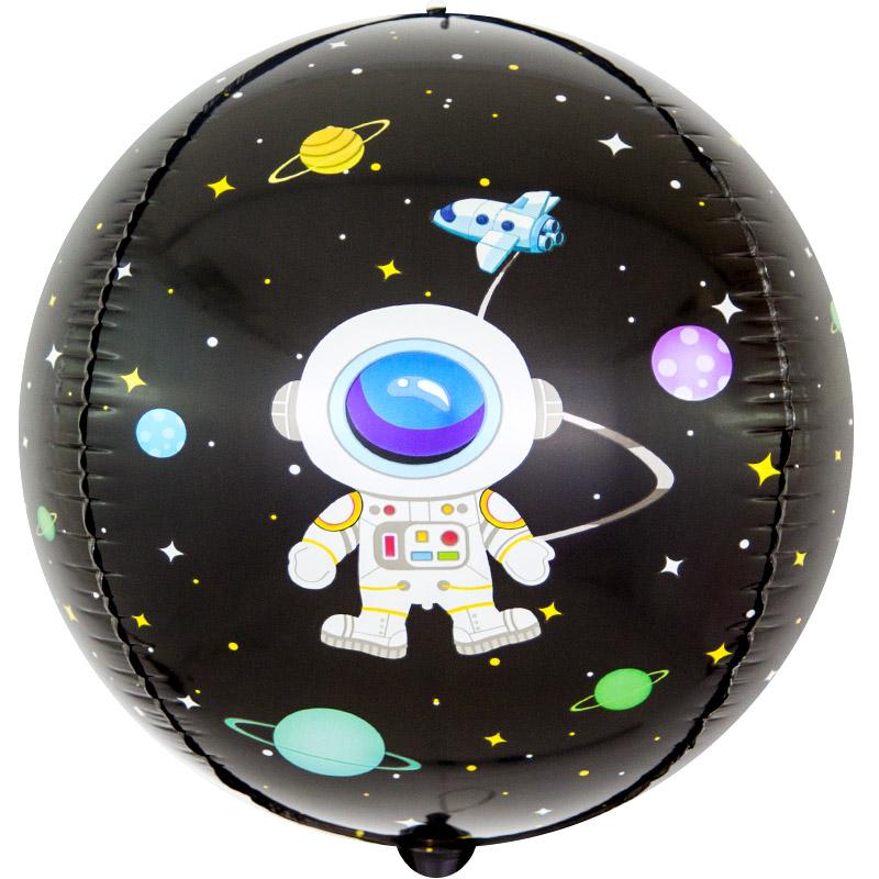 Фольгированная сфера 3D, Космические приключения (61 см)