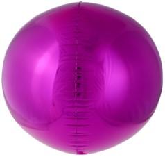 Фольгированная сфера 3D, Фуксия (61 см)
