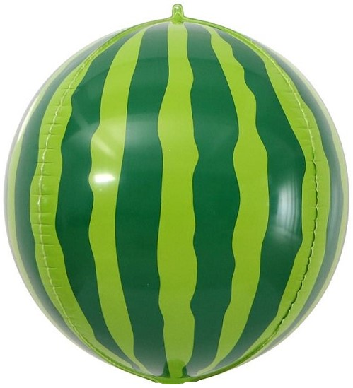 Фольгированная сфера 3D, Арбуз (61 см)