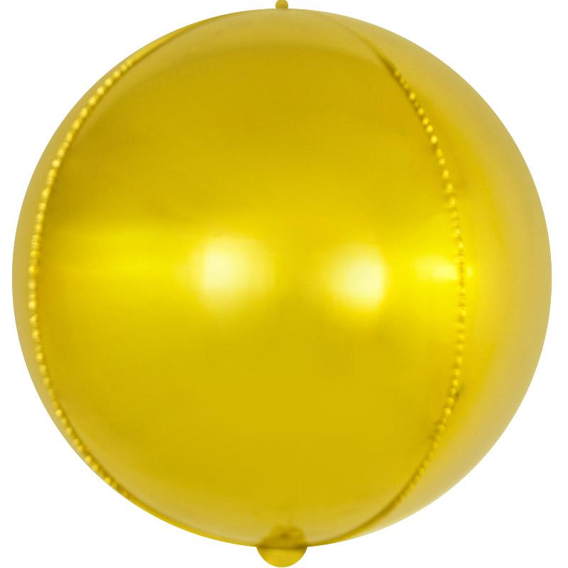 Фольгированная сфера 3D, Золото (56 см)