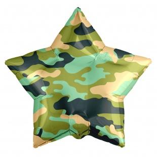 Фольгированная звезда, Милитари, Хаки (46 см)