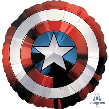 Фольгированный круг, Щит Капитан Америка (100 см)
