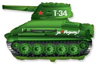 """Фольгированная фигура """"Танк Т-34"""", Зелёный (79 см)"""