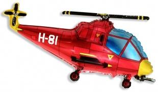 """Фольгированная фигура """"Вертолёт"""", Красный (97 см)"""