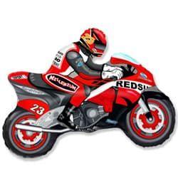 """Фольгированная фигура """"Мотоцикл"""", Красный (79 см)"""