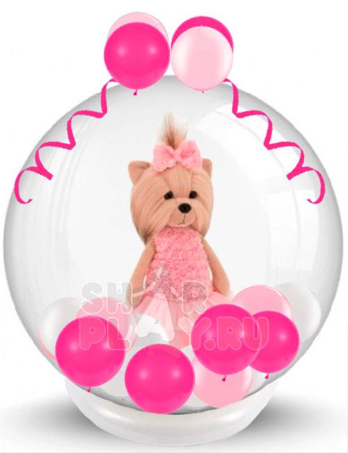 Шар с игрушкой Lucky Doggy Розовый Микс (60 см)