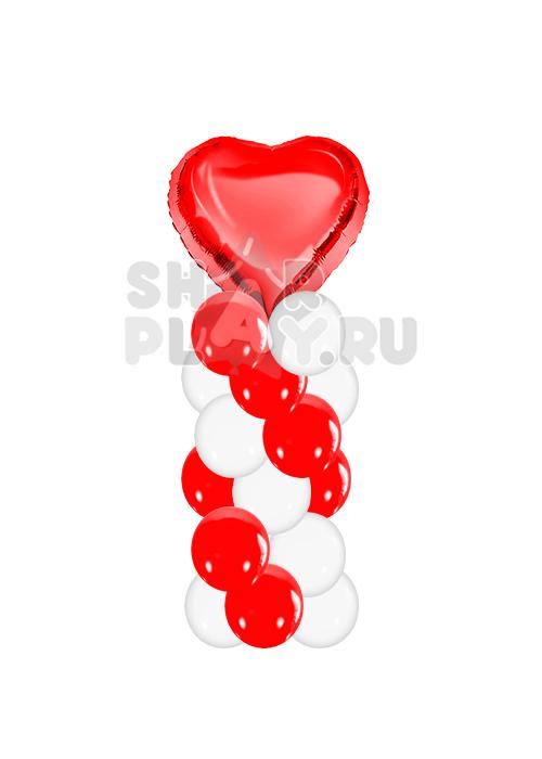 """Стойка """"Сердце"""" Красный/Белый (150 см)"""