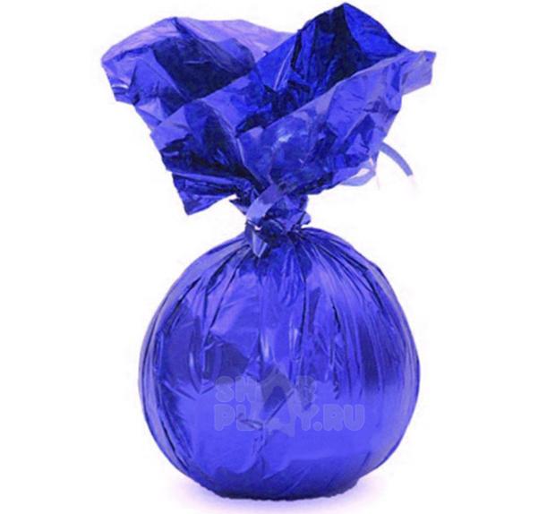 Фольгированный грузик, синий