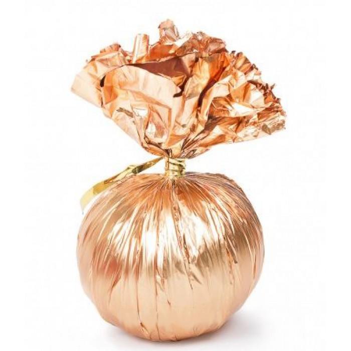Фольгированный грузик, розовое золото