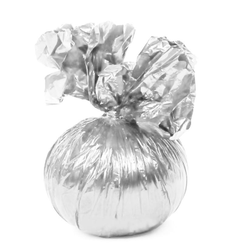 Фольгированный грузик, серебро