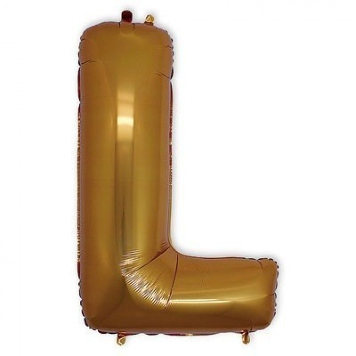 Фольгированная Буква L золото (102 см)