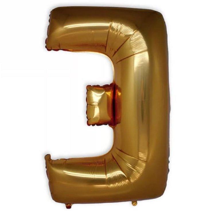 Фольгированная Буква Э золото (102 см)