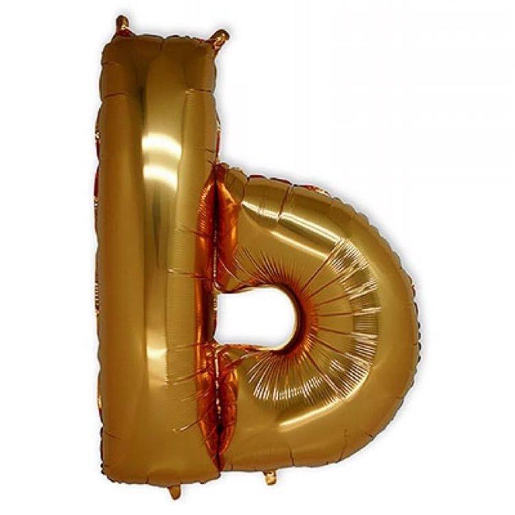 Фольгированная Буква Ь золото (102 см)