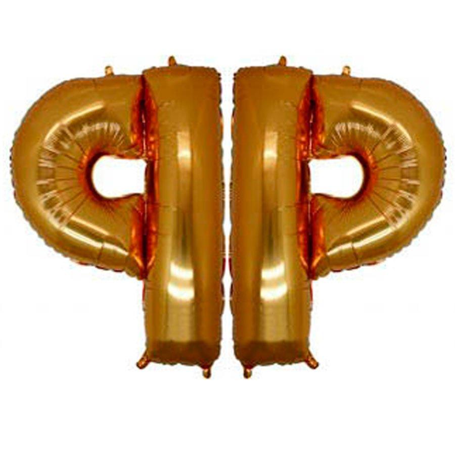 Фольгированная Буква Ф золото (102 см)