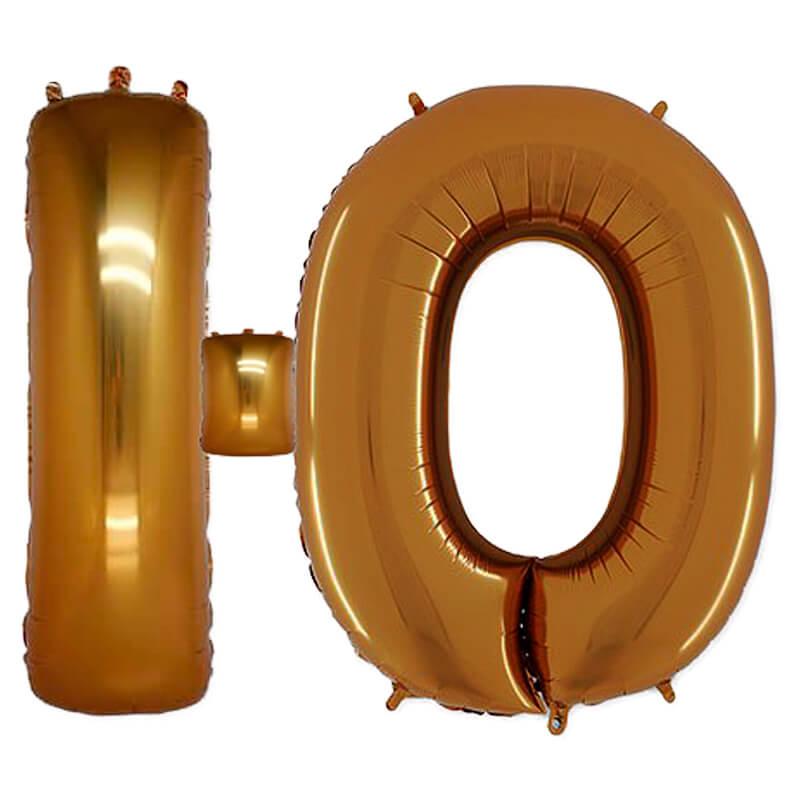 Фольгированная Буква Ю золото (102 см)