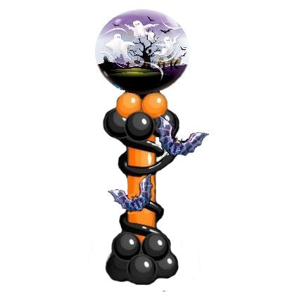 Колонна из воздушных шаров на Хэллоуин